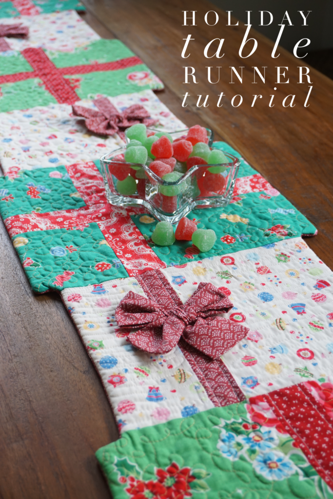 Christmas Table Runner Quilt.Holiday Table Runner Tutorial Quilting In The Rain